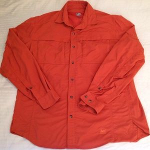 REI Men's Long Sleeve Orange Size Med EUC